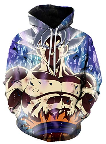 Cosstars Anime Dragon Ball Z Goku 3D Digitaldruck Kapuzenpullover Hoodie Cosplay Kostüm Pulli Sweatshirt Tops Mäntel 22 XXXL (Naruto Dragon Ball Z Kostüm)