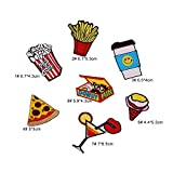 #9: iDream Iron on patches, Assorted Size Iron Embroidery Appliqué Decoration DIY Patch for Jeans Clothing etc (Theme B)