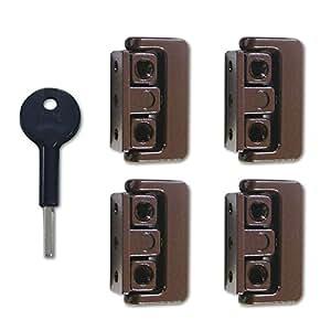 Yale 8K101 Pivoted Window Lock Brown x 4: Amazon.co.uk ...