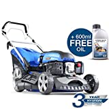 Hyundai HYM460SP 139CC Self Propelled Petrol Lawn Mower, Blue
