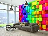 murando - Fototapete Kubus 350x256 cm - Vlies Tapete - Moderne Wanddeko - Design Tapete - Wandtapete - Wand Dekoration - 3D f-A-0350-a-a Test