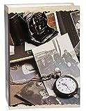 Unbekannt Einsteckalbum  Kamera & Taschenuhr  - Gebunden zum Einstecken - groß für bis zu 200 Bilder - 10x15 - Fotoalbum / Fotobuch / Photoalbum / Babyalbum / Album -..