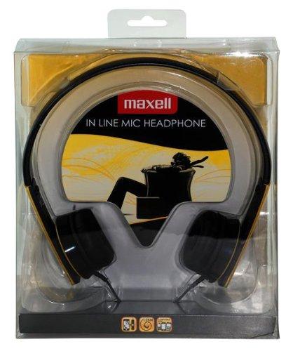 Maxell HP-Mic Kopfhörer mit Mikrofon gelb -