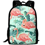 best& Stylish Flamingo Bird Tropical Palm Laptop Backpack School Backpack Bookbags College Bags Daypack