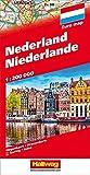 Hallwag Straßenkarten, Niederlande: Straßenkarte mit Index und Distoguide - Hallwag