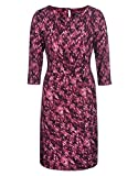 STEILMANN by Adler Mode Damen Kleid mit Volantbesatz - Fummel, Robe, Abendkleid, Stoffkleid Violett/Pink/Weiß 48