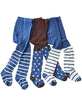 wellyou baby/kinder strumpfhosen für Jungen, babystrumpfhose/kinderstrumpfhose braun/blau Anker 3er set Größe...