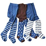 wellyou baby/kinder strumpfhosen für Jungen, babystrumpfhose/kinderstrumpfhose braun/blau Anker 3er set gr 86-92