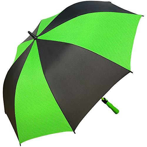 Superbison grande ombrello da golf doppio strato 155cm/145cm ombrelli (perimetro di 145cm / diametro di 122cm, nero / verde)
