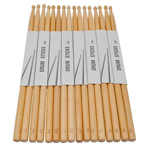 LouiseEvel215 Palillos de Madera de haya Antideslizantes-Tambores-Baquetas de batería electrónica Musikalische Paletten Accesorios de instrumentos de percusión (De Bateria Baquetas)