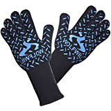 WOLFWILL BBQ Grill Gloves - 932°F Extreme Heat Resistant EN407 CE Certified Gloves - Barbecue Gloves, Oven Gloves