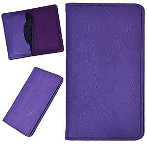 DCR Pu Leather case cover for Karbonn S5 Titanium (purple)