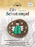 The Art of Stone Schutzengel für Dich - Serie 6 - Motiv 07 - Handbemalter-Naturstein - Handschmeichler Glücksbringer
