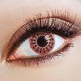 aricona Farblinsen rote Kontaktlinsen farbig zum Hexen Kostüm Halloween Make-up