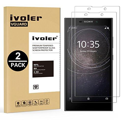 ivoler [2 Stücke] Panzerglas Schutzfolie für Sony Xperia L2 [9H Härte] [Anti- Kratzer] [Bläschenfrei] [2.5D R&e Kante]