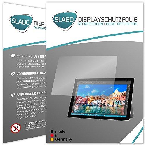 2 x Slabo protector de pantalla Microsoft Surface Pro 4 lámina protectora de pantalla