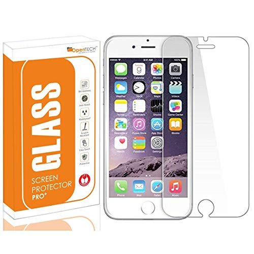 OpenTech® Tempered Glass Screen Protector for Apple iPhone 6 / 6s with Installation kit (Covers The Only Main Display Screen Except Edges)