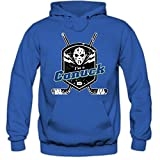 Shirt Happenz I'm a Canuck #1 Hoodie Eishockey Play Offs USA Kapuzenpullover, Farbe:Blau (Royalblue F421);Größe:XXL
