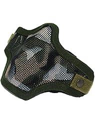 Máscara Táctico Facial Protección Malla Media Militar Huelga Acero Aire Suave - Camuflaje