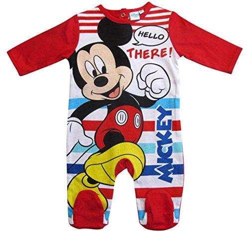 Mickey Mouse Kollektion 2018 Strampelanzug 62 68 74 80 86 92 Strampler Einteiler Maus Disney Rot (Rot, 80)