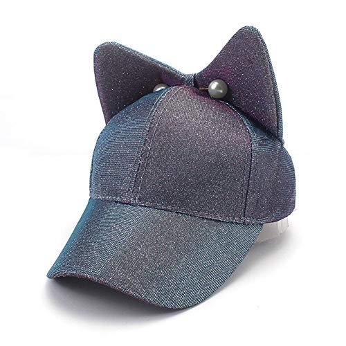 Yhtdhaq moda bambino bimbo berretto da baseball berretto da baseball per bambini neonato con orecchie carine cappello hip hop casual,4