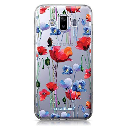 CASEiLIKE® Custodia Samsung J7 Duo 2018 Cover, Acquerello Floral 2234 Disegno Ultra Sottile Paraurti TPU Caso Silicone per Samsung Galaxy J7 Duo 2018