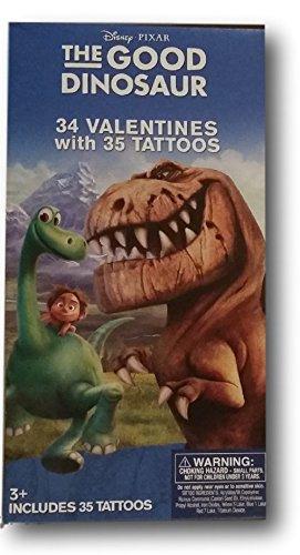 Disney Pixar the good Dinosaurier 34Valentines mit 35Tattoos (Klassenzimmer Austausch Karten Paper Magic)