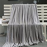 LHWY Super Warme Kuscheldecken Klein Plüsch Fleece Decke Werfen Teppich Büro Sofa Bettwäsche (70 x 100 cm, Grau)