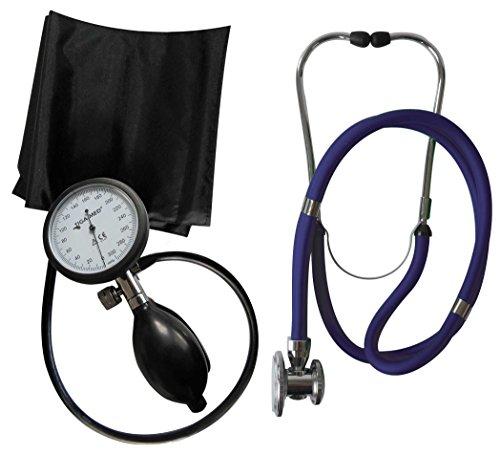 Profi-blutdruckmessgerät (Blutdruckmessgerät Oberarm Profi Tiga Pro 1 Neuware K 1 + Rappaport blau Doppelkopf Stethoskop Tiga-Med)