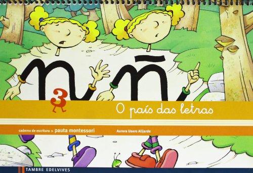 Caderno de escritura Pauta Montessori 3: O país das letras - 9788415165897 por Aurora Usero Alijarde