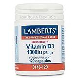 Lamberts - Vitamina D3 1000IU - 120 Cápsulas