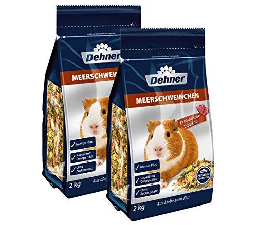 Dehner Premium Meerschweinchenfutter, 2 x 2 kg (4 kg)
