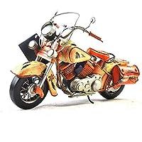VJUKUB Antigüedad Retro Hierro Arte Indio Seguridad Motocicleta Modelo hojalata Hecho a Mano Arte Retro de Hierro casa decoración decoración Decorativos arreglo de fotografía Props 43 * 18 * 25cm