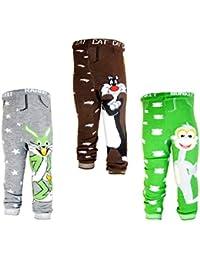 Backbuy 3 pantalones 0-24 meses para bebés niños leggings pantalones de punto N2N3N8