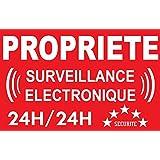 Panneau propriété surveillance électronique 24/24