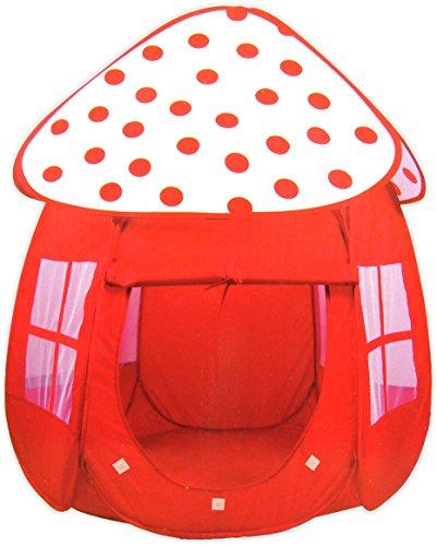 Rotes Zelt mit Pünktchen / Bällebad / POP-UP