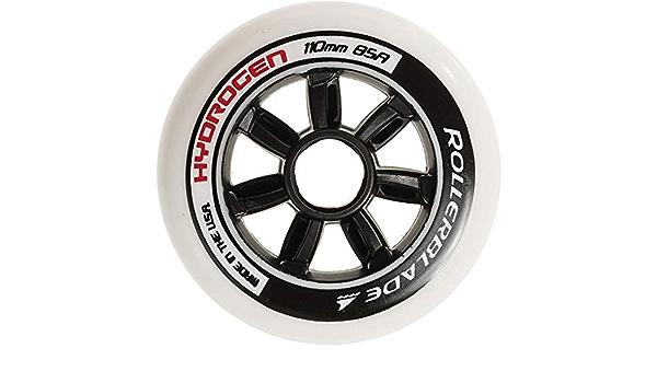 Taglia Unica Rollerblade Ruote Hydrogen 90//85A Nero Adulti Unisex 8 Pezzi