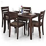 Royal Oak Victor Four Seater Dining Table Set (Walnut)
