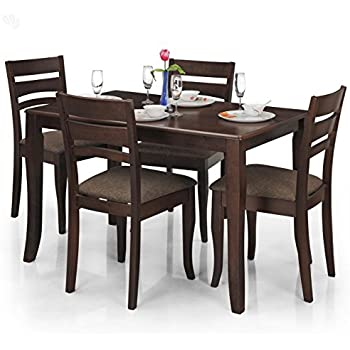 Royal Oak Victor Four Seater Dining Table Set Walnut Amazonin