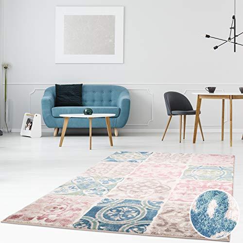 achflor Läufer Inspiration in verschiedenen Designs Modern Vintage Pastellfarben Wohnzimmer Schlafzimmer, Größe in cm:200 x 290 cm, Farbe:Patchwork-Multi ()