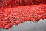 G4Rote Guipure-Spitze, Hochzeits-Spitze, 120cm breit,