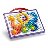 Quercetti 0920 - Fantacolor Steckkugeln in drei verschiedenen Größen, 160 Teile