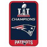 WinCraft New England Patriots Super Bowl LI Champions Champions NFL Sign