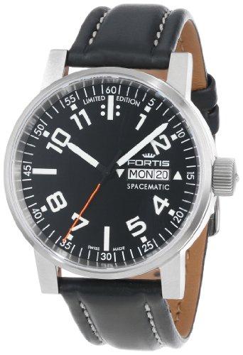 Fortis Spacematic Classic Automatik Uhr, ETA 2836-2, Schwarz, Limitierte Ed.
