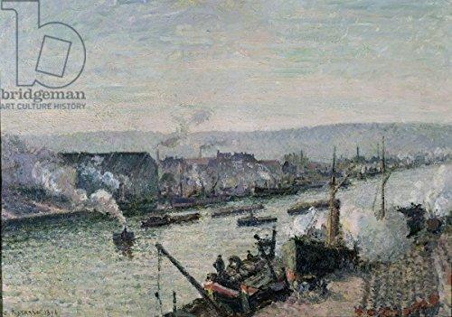Saint Port de Saint-Sever, Rouen, 1896 (Oil On Canvas) (181208), Alu-dibond, 70 x 50 cm