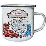 Nuevas Tarjetas De Juego De Casino Retro, lata, taza del esmalte 10oz/280ml l840e