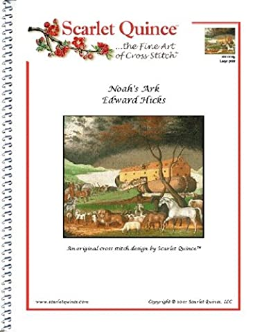 Scarlet Quince HIC002lg Noah's Ark by Edward Hicks Counted Cross Stitch Chart, Large Size Symbols