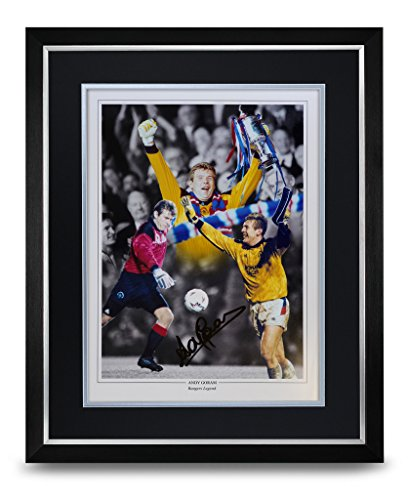 Andy-Goram-Signed-Photo-Large-Framed-Display-Rangers-Autograph-Memorabilia-COA