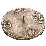 Taufkerzenleuchter Kerzenleuchter Leuchter 4 Symbole 15 cm Bronze Edelpatina braun