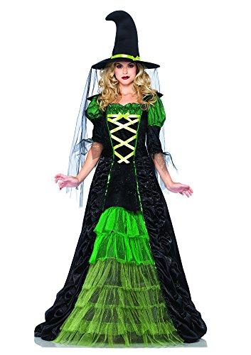 Leg Avenue 85240 - Kostüm für Erwachsene, Größe M/L, (Geraffte Hexe Hut Schwarze)